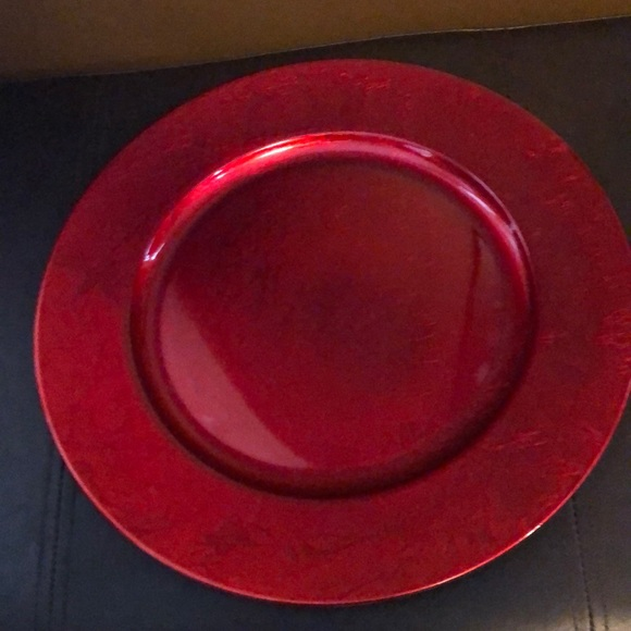 13-Inch Charger Plates in Red (Set of 8)